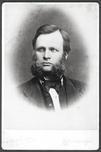 Carl Lauritz Jacobsen - grunnleggaren av fotofirma C. L. Jacobsen 1864-1915. Kopiar av to portrett frå 1864 og seinare, ved Jacobsen Foto.