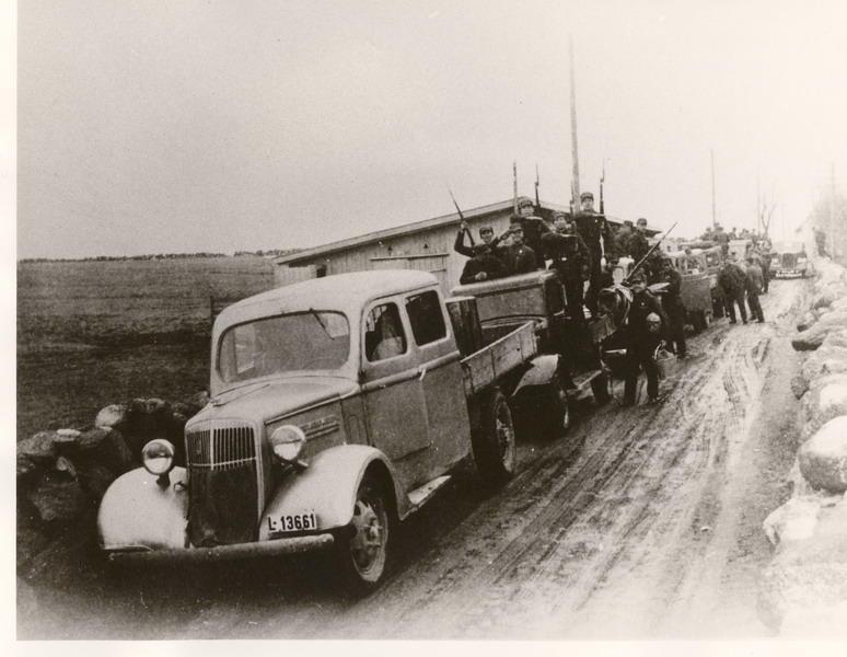 Norske soldater, på Jæren 9- 10 april 1940