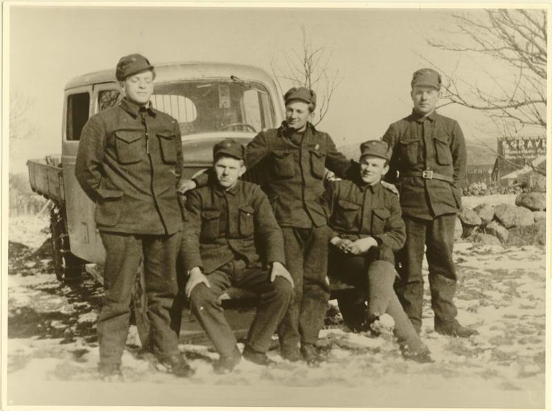9. april 1940. Norske soldater. Sandnes