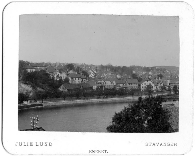 Postkort fra Julie Lunds postkortproduksjon. Breiavannet i Stavanger, antageligvis tatt mellom 1902-1904. Foto: Julie Lund/MUST-Stavanger Maritime Museum