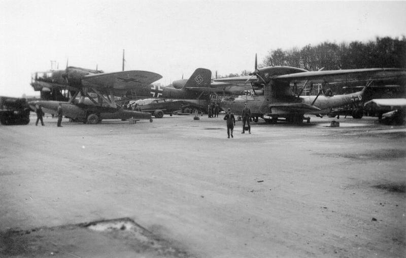 Sjøflyhavna Sola våren 1940.