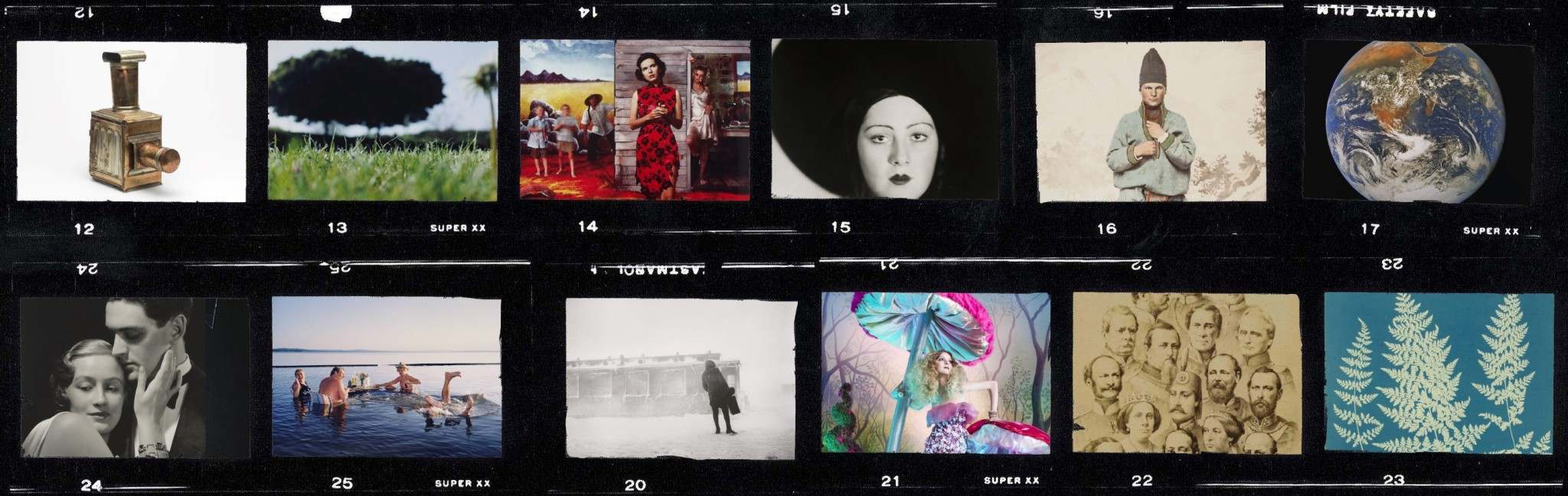 Filmruller gjennomlyst, fra Preus museums samling