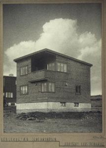 Mester Gottfrieds vei 8, Nyoppført i funkisstil. Huset som står der i dag er imidlertid svært annerledes. Foto: Waldemar Eide